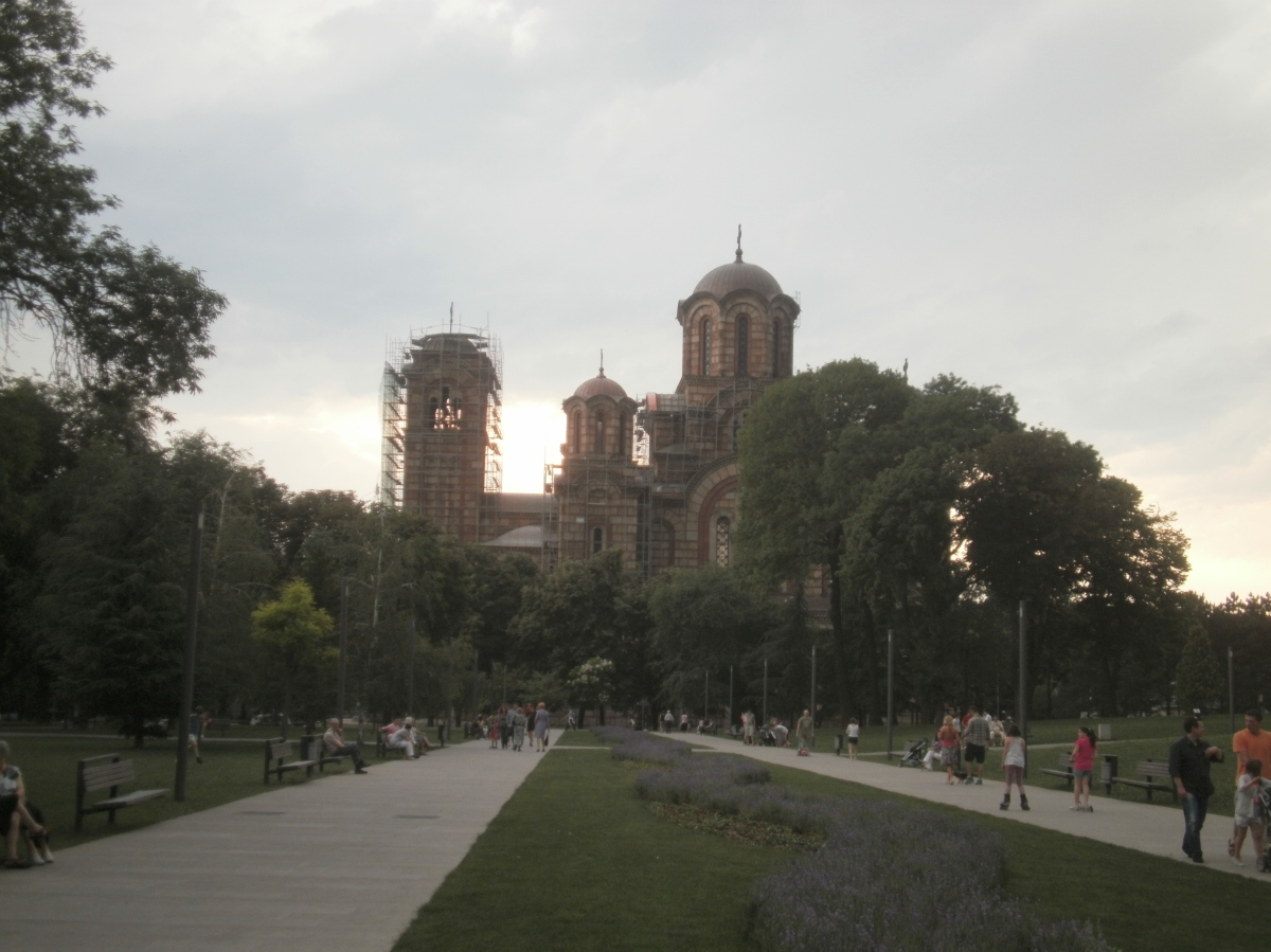The beautiful side to Belgrade. This park was around the corner of my hostel. The Church is called Saint Anne's