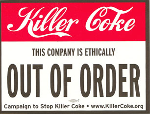 killer coke the campaign against coca cola Against coca cola the coca-cola case takes them on an enthralling legal rollercoaster ride via the us federal court and the stop killer coke campaign will.
