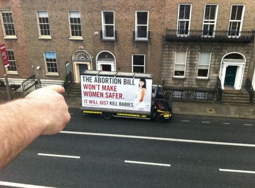 This shocking billboard was parked outside Dublin's Rape Crisis Centre