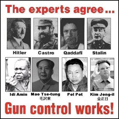 An example of the bogus notion that gun control leads to genocide