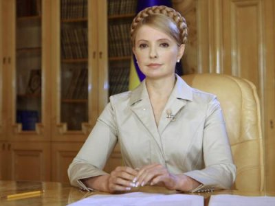 Yulia Tymoshenko, the Pro-Western leader of the opposition