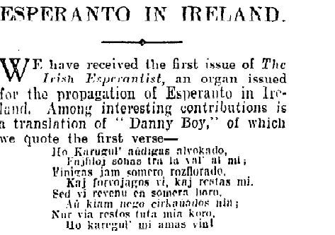 Irish Times 24th September 1926
