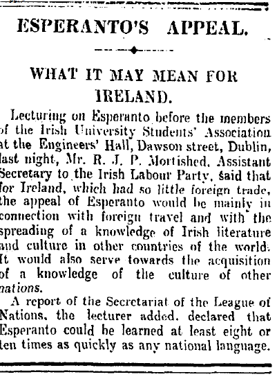 Irish Times 24th February 1926