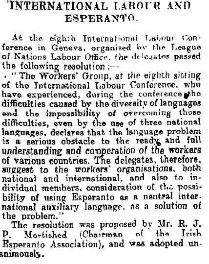 Irish Times 26th June 1926