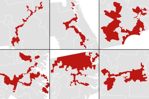 Some of the most blatant examples of gerrymandering