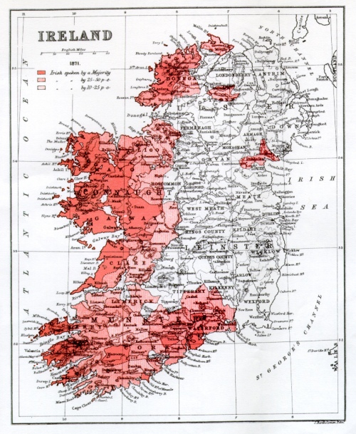 The state of the Irish language in 1871
