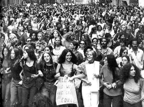 Protest against the exclusion of women from power