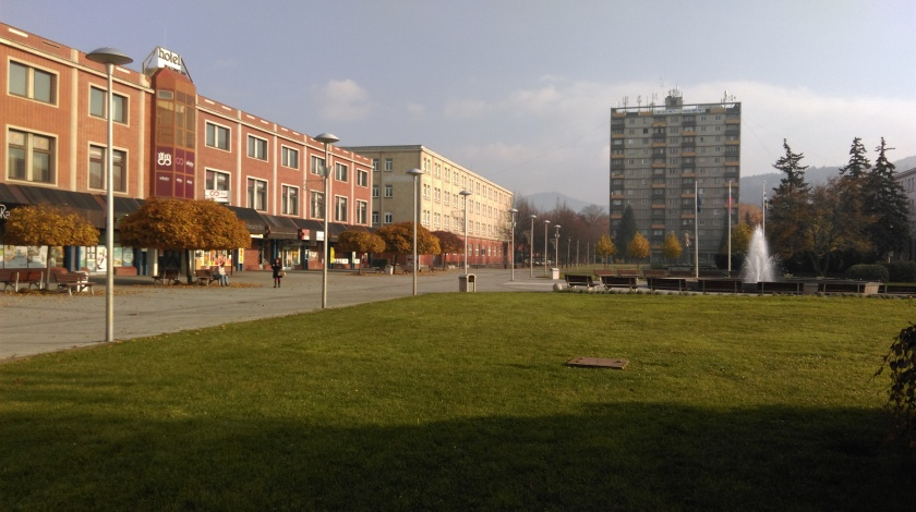 The centre of Partizanske