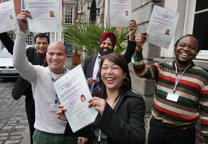 group at citizenship ceremony